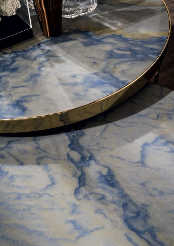 marble and stainless steel small table